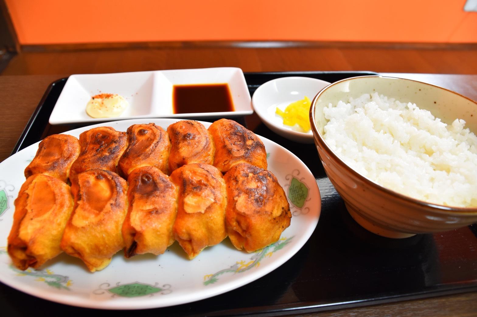 焼餃子10個定食 800円